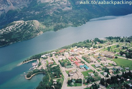 Waterton Townsite from Bears Hump